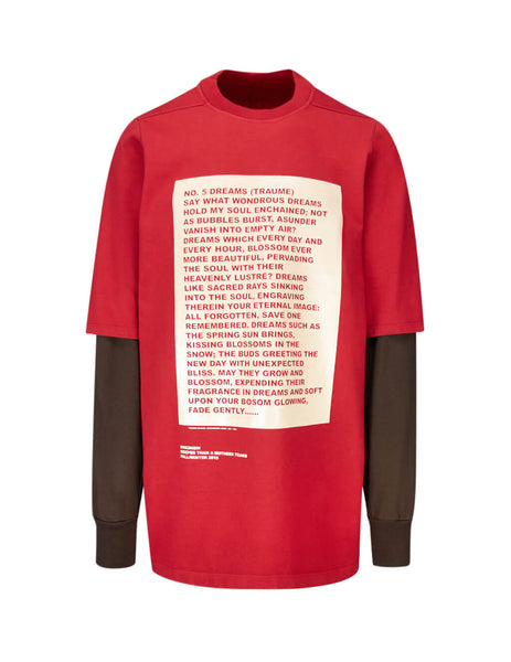 Rick Owens DRKSHDW Men's Giulio Fashion Red Hustler Sweatshirt DU19F6269RIGCP4038321