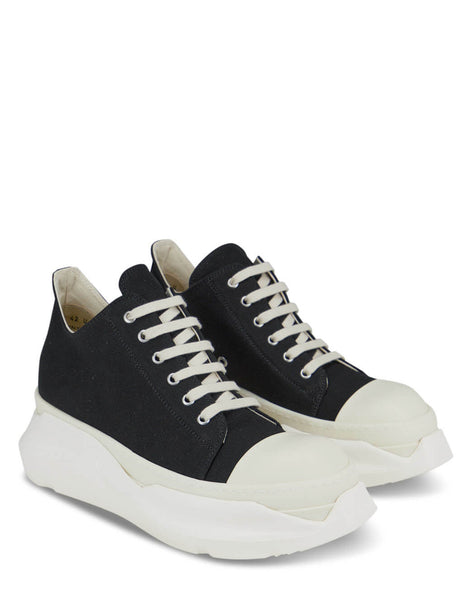 Men's Rick Owens DRKSHDW Abstract Low Sneakers in Black/Milk - DU21S2842TNAP91111