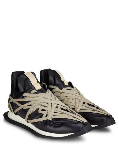 Rick Owens Men's Giulio Fashion Black Runner Maximal Sneakers RR20S7813LNWW1-09W
