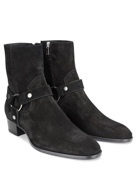 Saint Laurent Men's Giulio Fashion Black Wyatt Ankle Boots 573069BT3001000