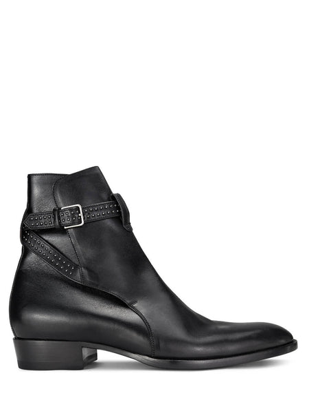 Saint Laurent Men's Giulio Fashion Black Jodhpur Boots 57942800EYY1000