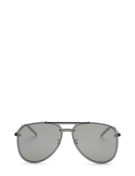 Unisex Saint Laurent Classic Mask Sunglasses in Black - CLASSIC11MASK003