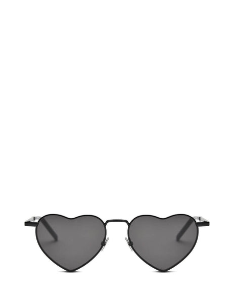 Saint Laurent Eyewear Women's Giulio Fashion Black New Wave LouLou Sunglasses SL301LOULOU002