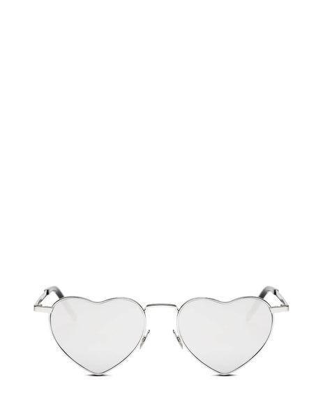 Saint Laurent Eyewear Women's Giulio Fashion Silver New Wave LouLou Sunglasses SL301LOULOU003