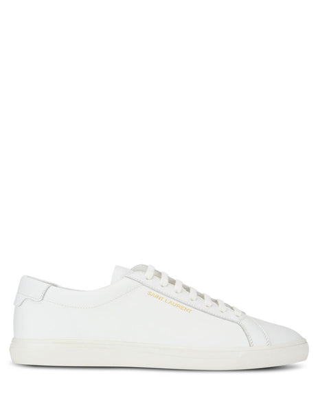 Men's Saint Laurent Andy Sneakers in White Leather. 6068330M5009030