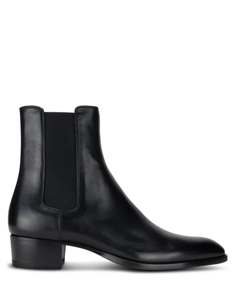 Men's Saint Laurent Ankle Boots in Black Leather. 6341941YL001000
