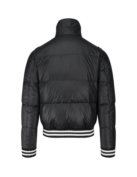 Men's Saint Laurent Braid Puffer Jacket in Black. 629208Y744T1000