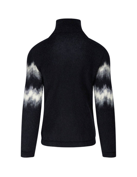 Saint Laurent Men's Black Brushed Knit Jumper 632010YARH21913