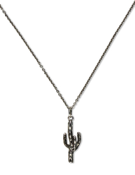 Men's Saint Laurent Cactus Necklace in Silver - 649981Y15008142