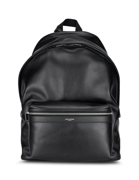 Men's Saint Laurent City Backpack in Black. 5349670AY3F1000