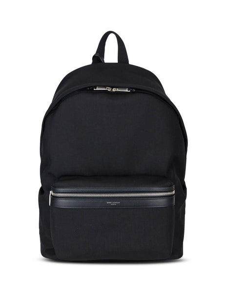 Saint Laurent Men's Black City Backpack 534967GIV3F1000