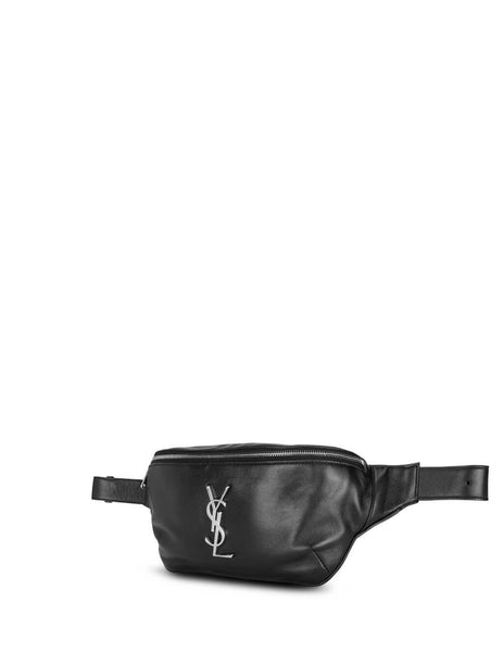 Saint Laurent Men's Giulio Fashion Black Classic Monogram Belt Bag 59007603U0E1000