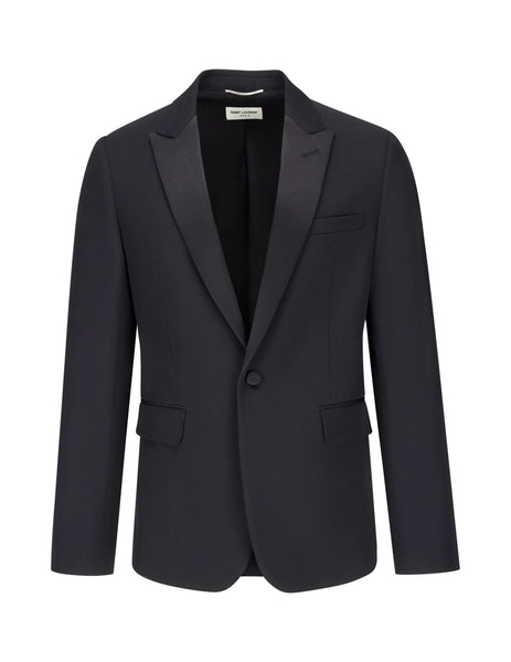 Saint Laurent Men's Giulio Fashion Black Classic Tuxedo Suit 509536Y512W1000