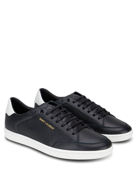 Men's Black Saint Laurent Court Classic SL Sneakers 6032231JZE01638