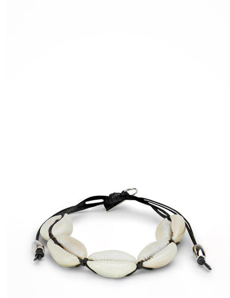 Men's Saint Laurent Cowrie Shell Bracelet in Black - 6522981V6EN1020
