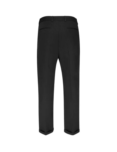 Saint Laurent Men's Giulio Fashion Black Cuffed Trousers 563592Y028V1000
