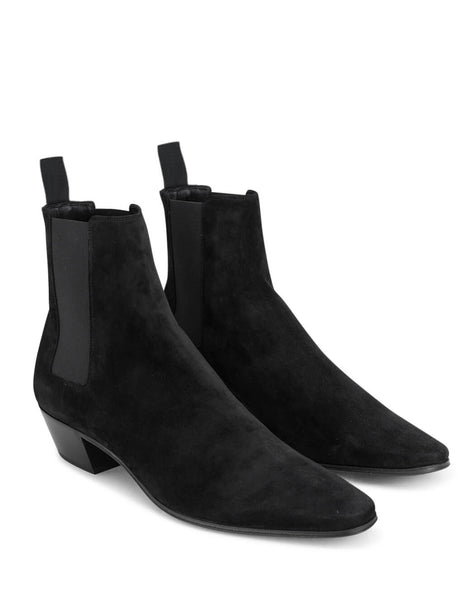 Saint Laurent Men's Giulio Fashion Black Dylan 40mm Ankle Boots 6024660LI001000