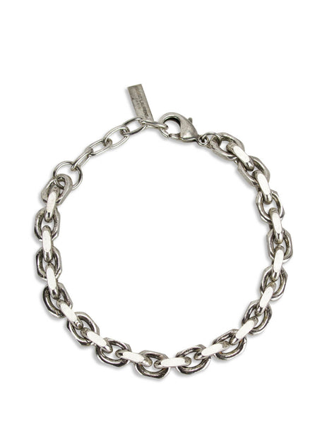 Saint Laurent Men's Silver Faceted Cable Chain Bracelet 601808Y15008142