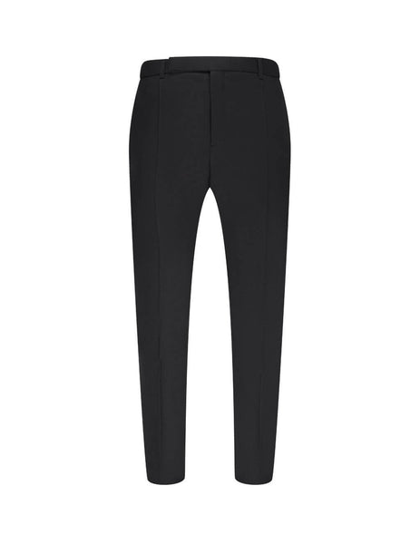 Saint Laurent Men's Black Fit Flat Trousers 596927Y2B071000