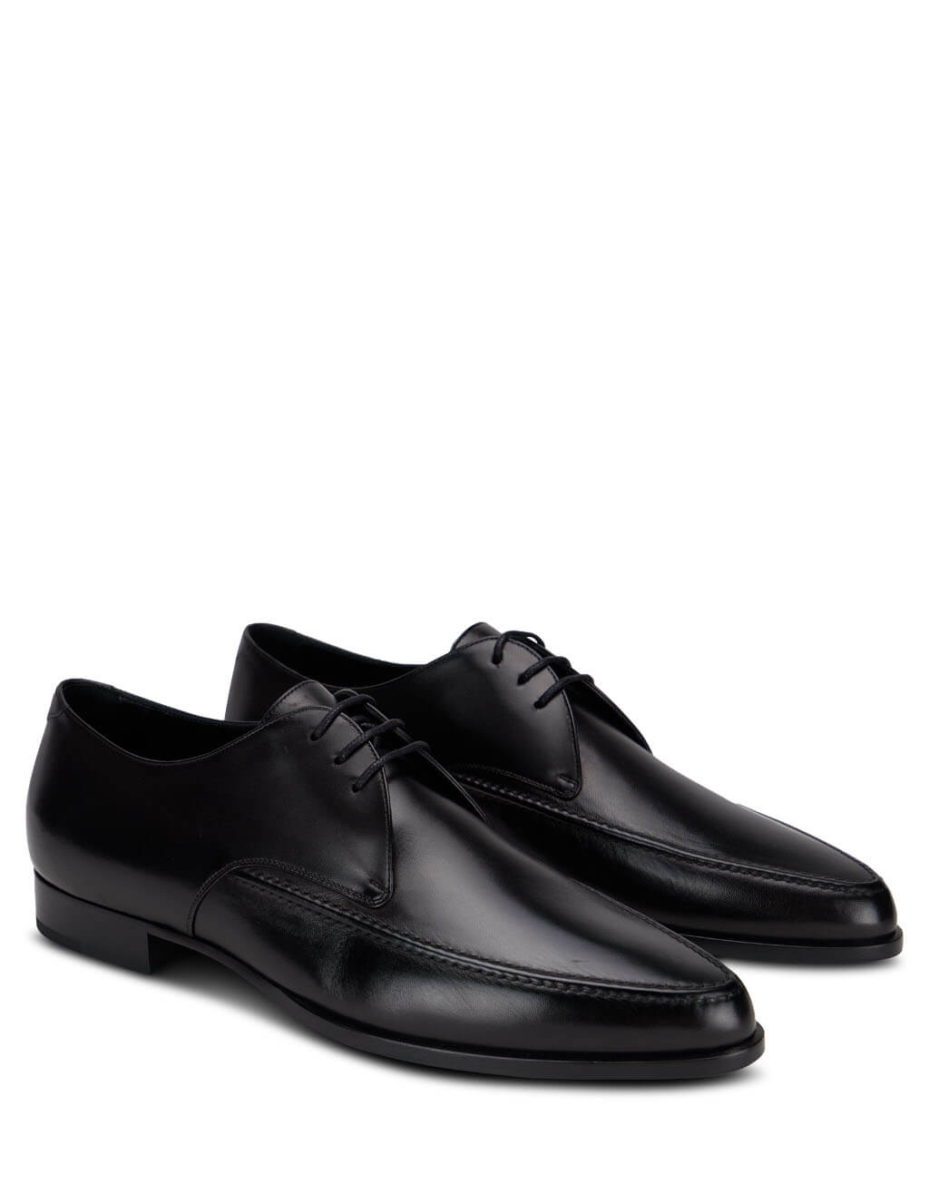 Men's Saint Laurent Marceau Derby Shoes in Black Leather. 630668AKP001000