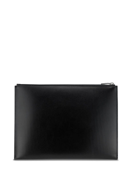 Men's Saint Laurent Monogram Tablet Holder in Black - 4532490SX0E1000