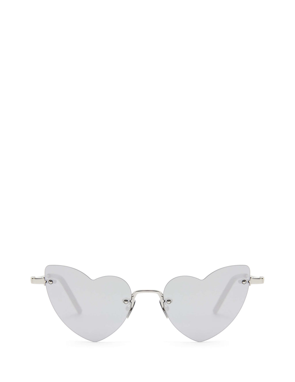 Saint Laurent Eyewear Women's Giulio Fashion Silver New Wave LouLou Sunglasses SL254LOULOU002