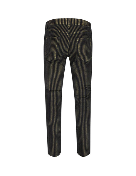 Saint Laurent Men's Giulio Fashion Black Nightrider Jeans 601478YY8241666