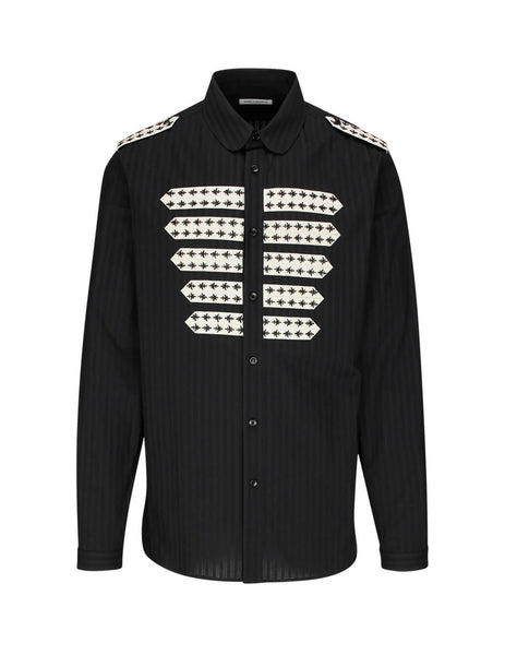 Saint Laurent Men's Black Officer Shirt 599691Y1A471000