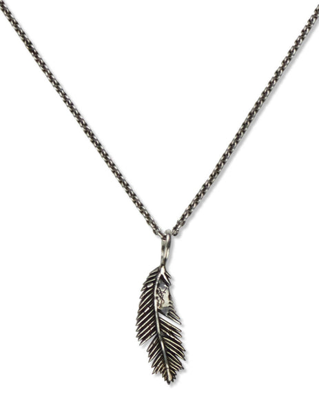 Men's Saint Laurent Palm Leaf Necklace in Silver - 647155Y15008142