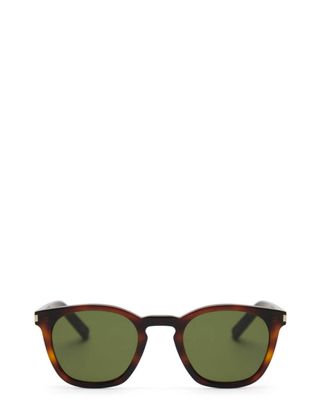 Unisex Saint Laurent Round Tortoiseshell Sunglasses in Havana - SL28-003