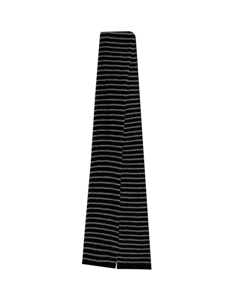 Men's Saint Laurent Sailor Knit Scarf in Black. 6321854YF721078