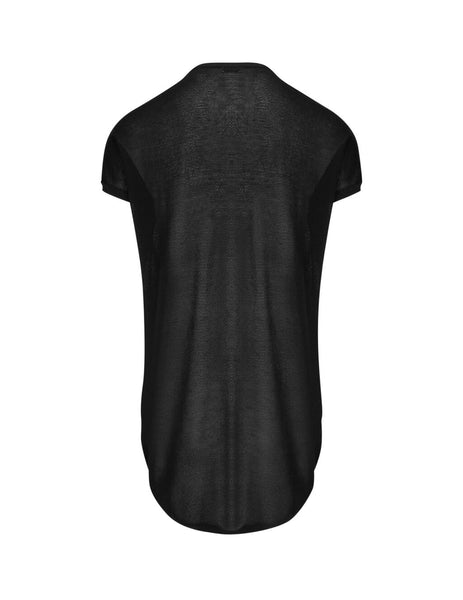 Saint Laurent Men's Black Sheer T-Shirt 597654YAKA21000