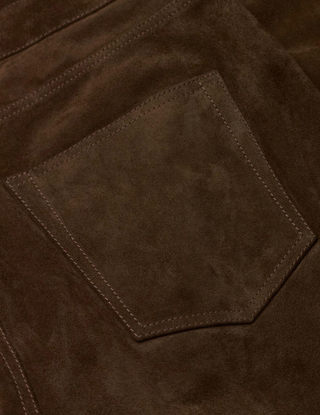 Men's Brown Suede Saint Laurent Straight-Cut Trousers 605147YC2AY2104