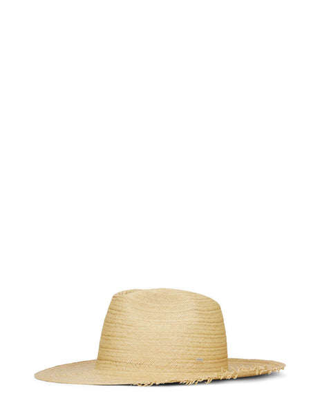 Men's Saint Laurent Straw Waikiki Hat in Beige - 6525703YG819700