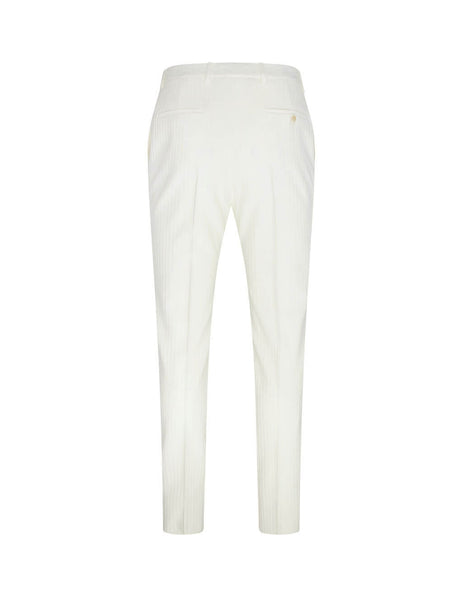 Saint Laurent Men's Giulio Fashion Chalk Tailoring Striped Trousers 598345Y1A579601