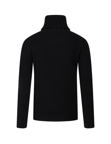 Men's Saint Laurent Turtle Neck Jumper in Black. 631860YALJ21000