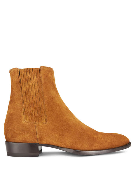 Saint Laurent Men's Giulio Fashion Tan Wyatt Chelsea Boots 5794020Z6002536