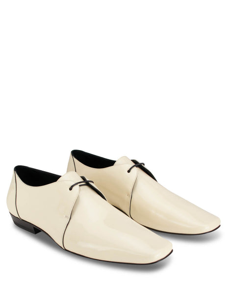 Saint Laurent Men's Porcelain Yves 15 Derby Shoes 5817371LA002035