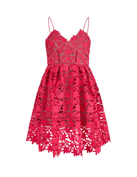 Women's Hot Pink self-portrait Mini Azaelea Dress SS20-119W