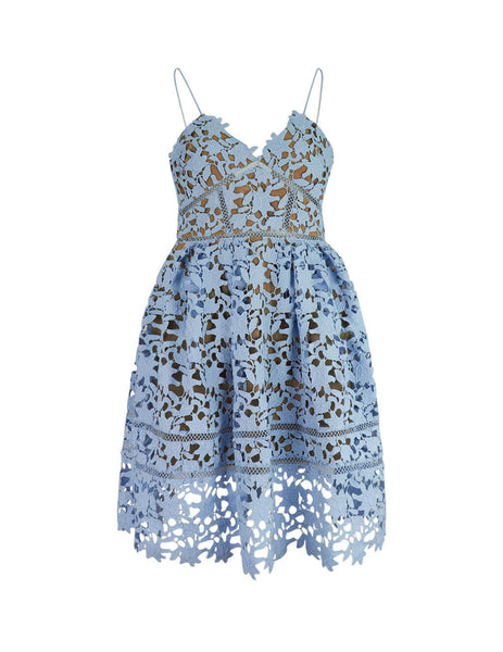 Women's Light Blue self-portrait Mini Azaelea Dress SS20-119B