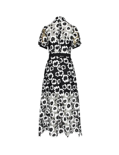 self-portrait Women's Giulio Fashion Ivory Abstract Guipure Dress SP22112
