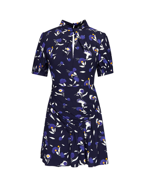 self-portrait Women's Giulio Fashion Navy Botanical Printed Mini Dress SP22094P