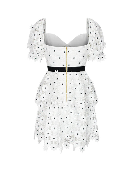 self-portrait Women's Giulio Fashion White Daisy Lace Mini Dress PF20-056S