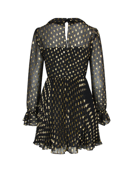 self-portrait Women's Giulio Fashion Black Dot Fil Coupe Mini Dress PF20-152