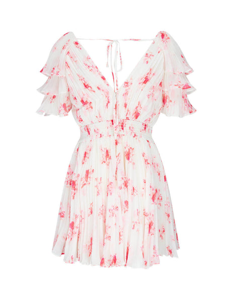 self-portrait Women's Giulio Fashion Ivory Floral Print Chiffon Mini Dress PF20-085