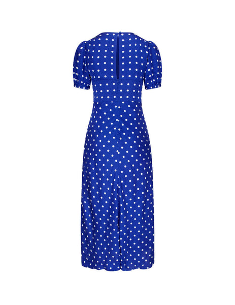 self-portrait Women's Giulio Fashion Blue Polka Dot Midi Dress PF20-023F