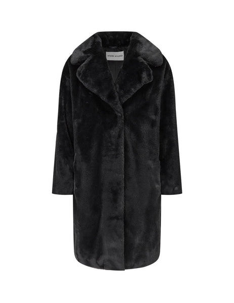 STAND STUDIO Women's Black Camille Cocoon Coat 61137-907089900