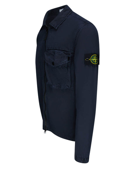 Men's Stone Island 117WN T.CO+OLD Overshirt in Navy Blue - 7415117WN V0120