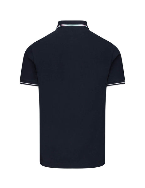 Stone Island Men's Giulio Fashion Navy Blue 22S18 Polo Shirt 731522S18 V0020