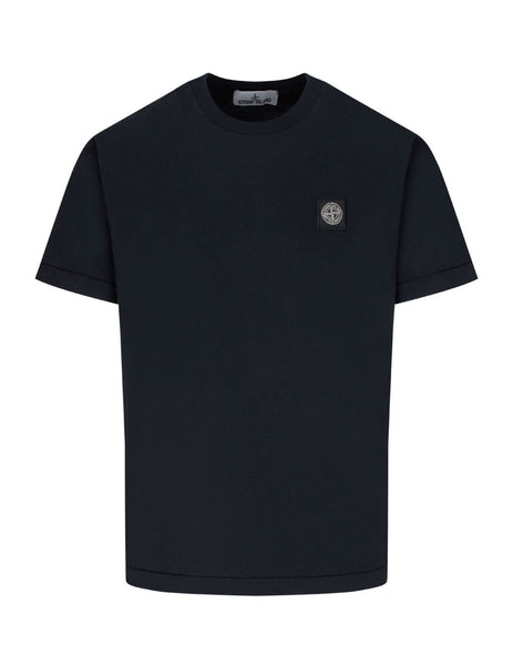 Stone Island Men's Giulio Fashion Navy 24113 Cotton Jersey T-Shirt 731524113 V0020